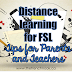 Distance learning resources for FSL  (a guide for Parents and Teachers)