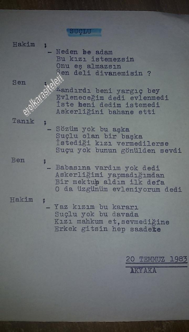 Nostaljik Asker Şiirleri - .Suçlu