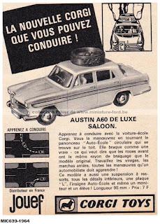 Corgi Toys publicité de 1964,  AUSTIN A60 DE LUXE SALOON