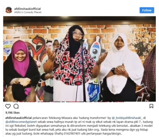 Persenda Agama, Video Parodi Afdlin Shauki Dikecam