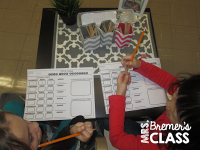 Math place value activities and games for first and second grade