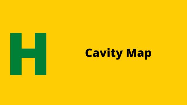HackerRank Cavity Map problem solution