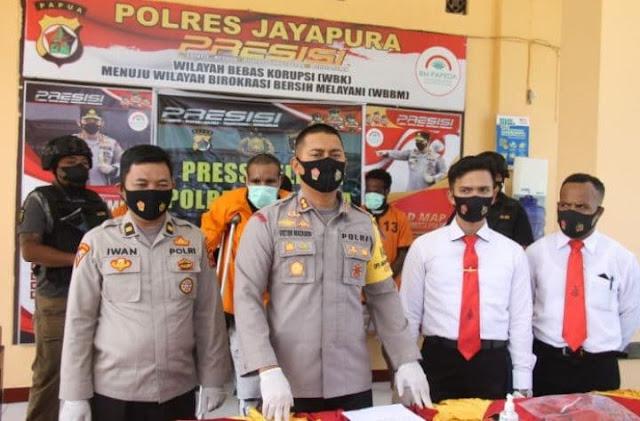 Polres Jayapura Amankan Pelaku Pemerkosaan Anak di Bawah Umur