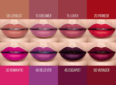Warna-warna gincu superstay matte ink maybelline