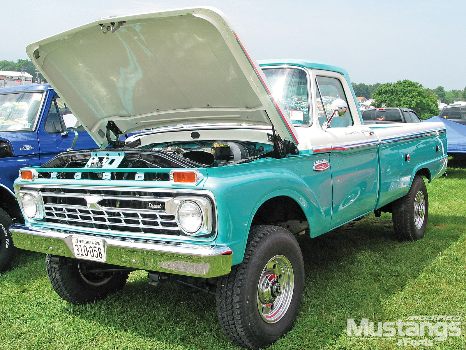 Modified Cars Ford F250 Lifted Truck 1969 Ranger Camper Special