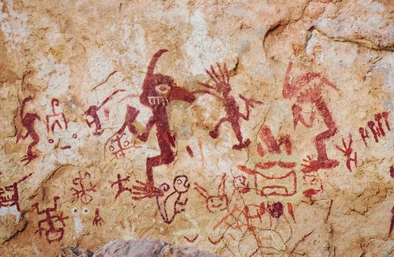 "Ancash: pintura rupestre ""Diablo Gaga"""