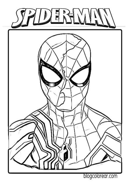 colorear de Spider-man