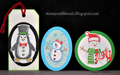 Snow Place, Stampin Up, Trude Thoman, Stamp with Trude, Card Candy, Tags, Christmas