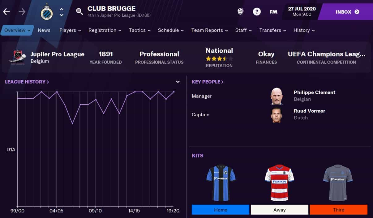 Club Brugge Football Manager 2021