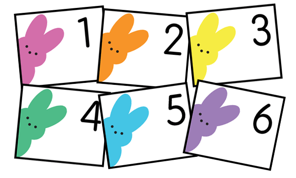 Free peeps calendar cards. Perfect for April. Download instantly. No membership or subscription need. By Grade Onederful
