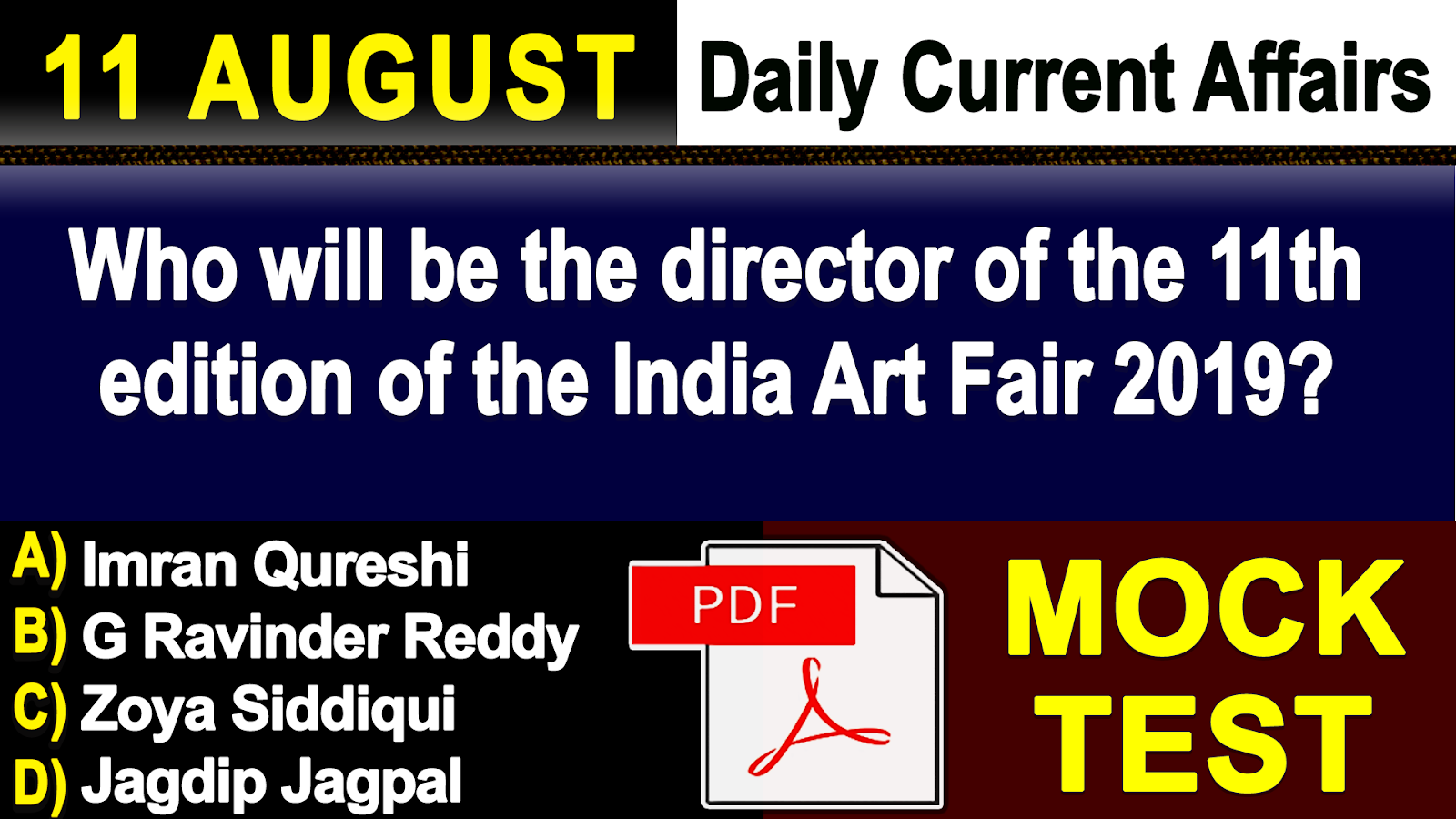 GK & Current Affairs Quiz: August 11, 2018