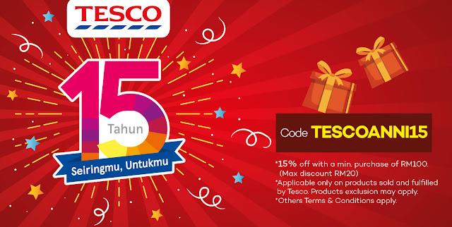 Lazada Malaysia Voucher Code Tesco Anniversary Discount Promo