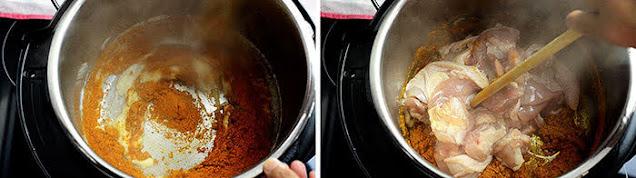 Add meat curry powder