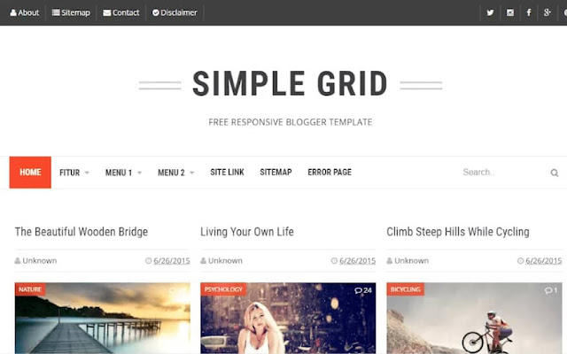No-4-Simple-grid-Blogger-template