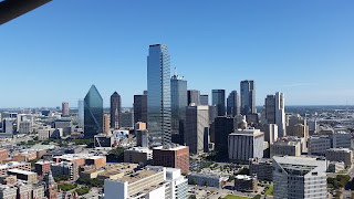 Highrises of the skyline of Downtown Dallas, TX