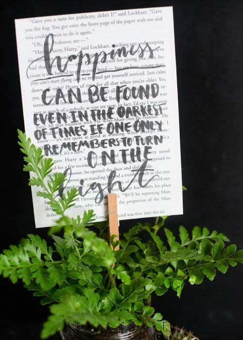Harry Potter Planter - Happiness Dumbledore quote