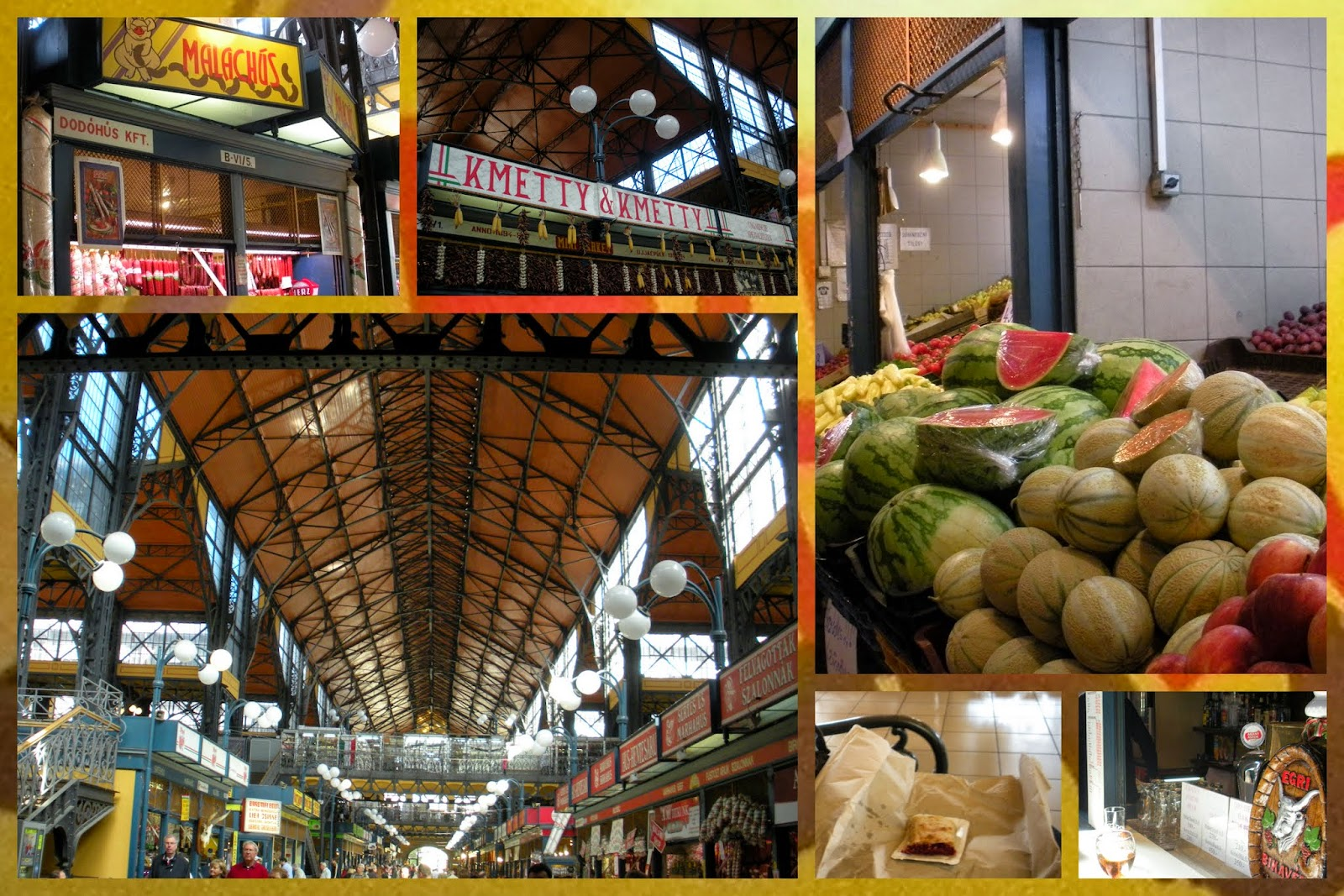 Best Food Markets in Europe: Central Market Hall in Budapest, Hungary