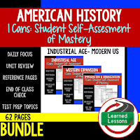 American History I Cans, Student Self-Assessment of Mastery