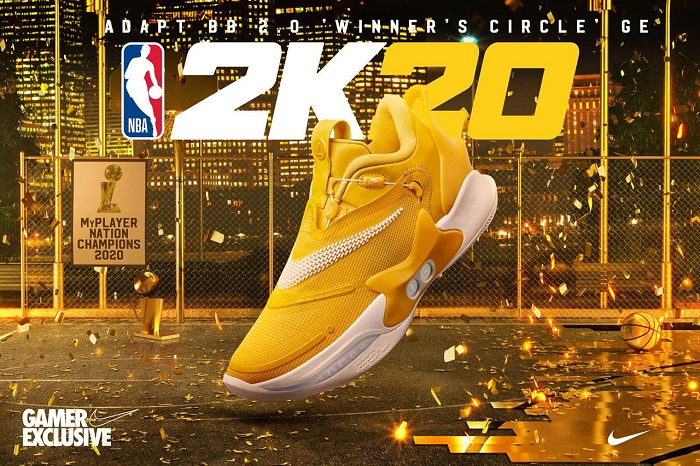 "NBA 2K20 Nike Adapt BB 2.0 ""Winner's Circle"" For Gamers Only"