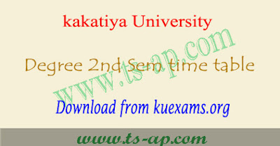 KU degree 2nd sem time table 2018-2019