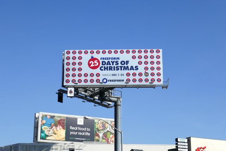25 Days of Christmas Freeform billboard
