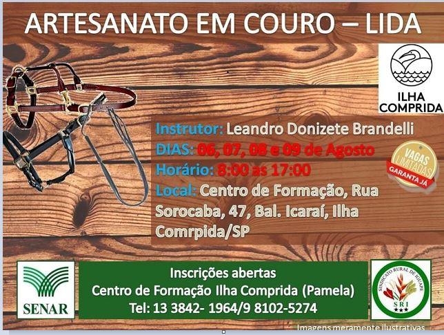 Centro de Formação da Ilha anuncia abertura de inscrições para o curso artesanato em couro