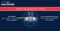 Logo San Pellegrino : vinci 120 momenti unici( 60 cene stellate per 2 persone) e 1 soggiorno per 6 persone