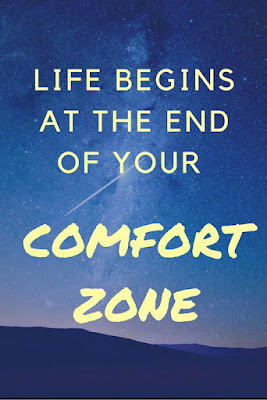 Why You Should Step Out of Your Comfort Zone | Morgan's Milieu: Life begins with that first step!