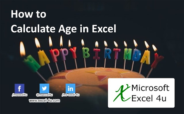 How to Calculate Age in Excel