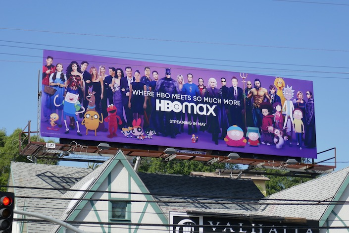 HBO Max launch billboard