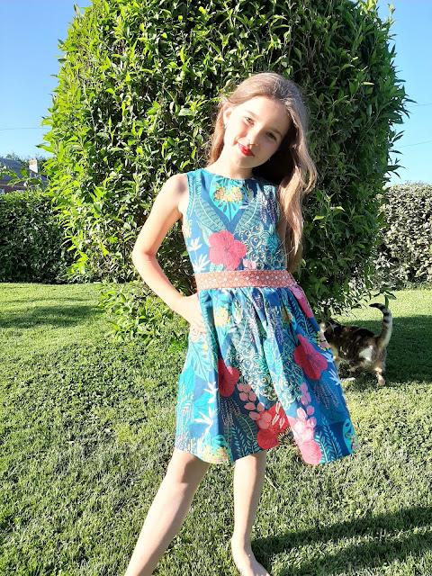 patron couture robe fille dos nu