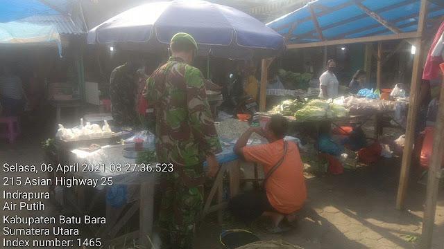 Pantau Berjalannya Protokol Kesehatan Dilakukan Personel Jajran Kodim 0208/Asahan Diwilayah Binaan
