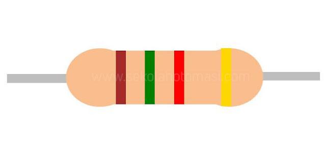 Resistor 4 gelang warna