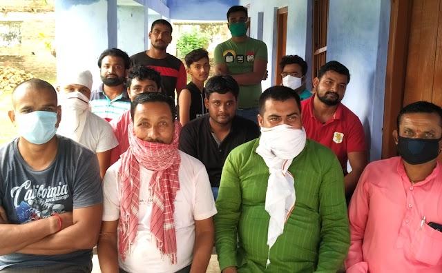 बसैठ प्रखंड के मांग पर युवाओं ने की बैठक