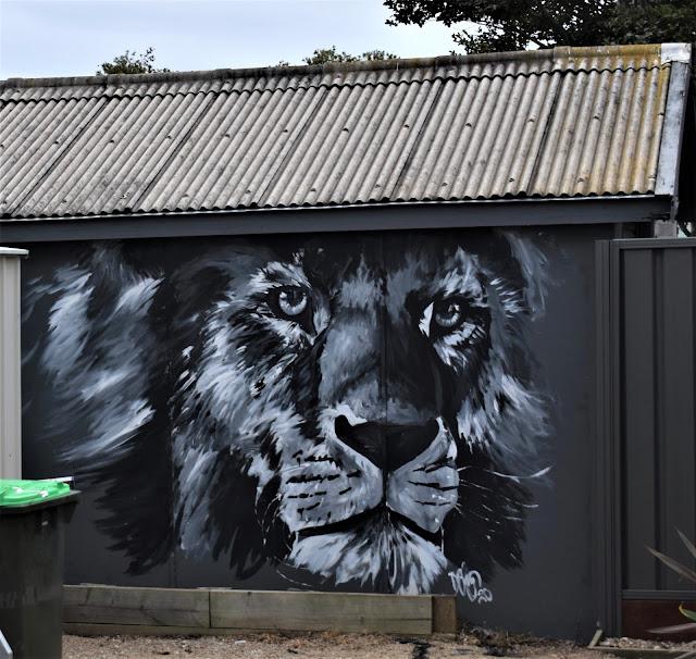 Panania Street Art   Tiger mural