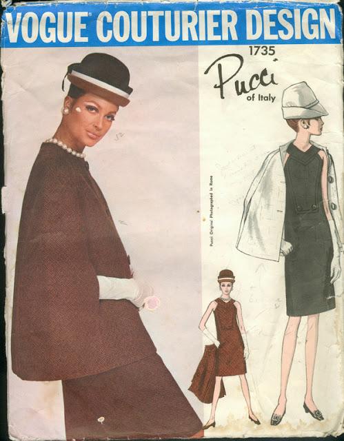 Cape - Cappa - Emilio Pucci, Vogue Pattern, June/July 1967