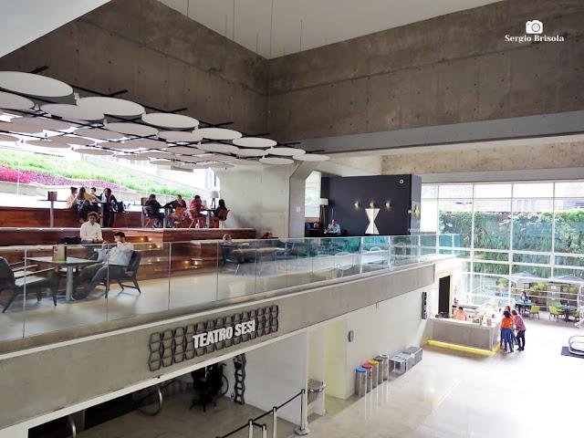 Vista da área de convivência e teatro do Centro Cultural FIESP - Bela Vista - São Paulo