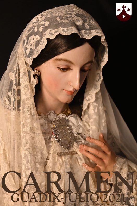 Cartel de Nuestra Señora Virgen Del Carmen en Guadix (Granada) 2021