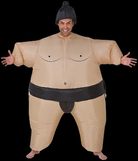 Funny INFLATABLE SUMO WRESTLER COSTUME Airblown Gag-Unisex Adult