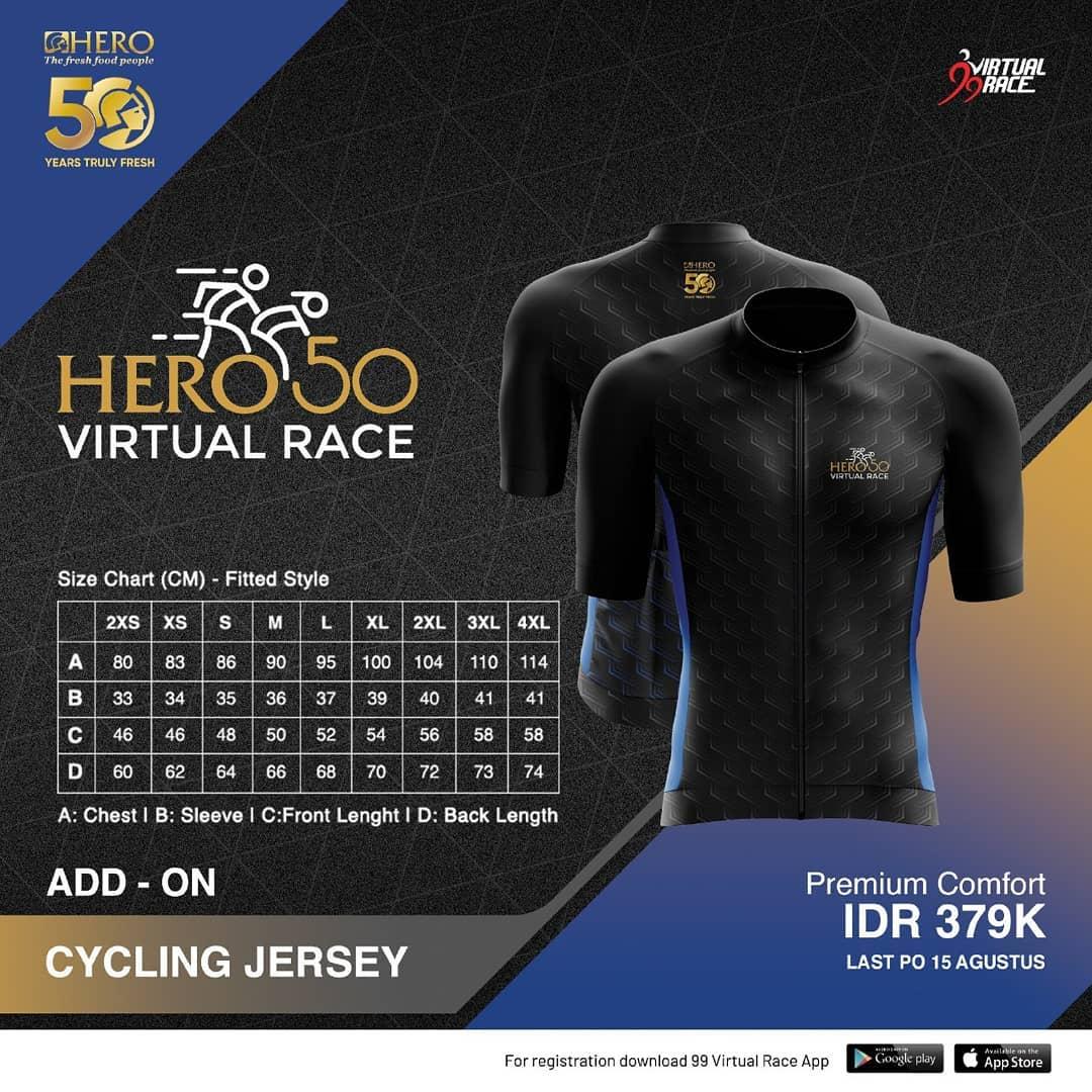 Cycling Jersey 🎽 Hero 50 Virtual Race • 2021