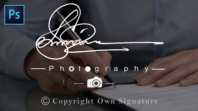 how to create own handwritten signature logo for photography