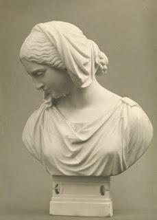 Heinrich Max Imhof: Marmorbüster von Mathilde Wesendonck, 1862
