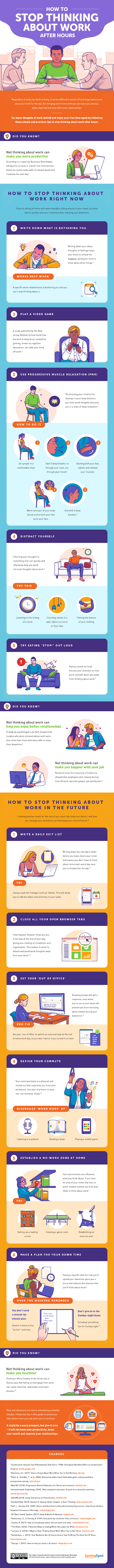 How to Stop Thinking About Work After Hours #infographic