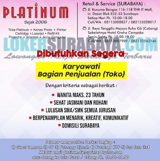 Lowongan Kerja di Platinum Surabaya Terbaru Mei 2019