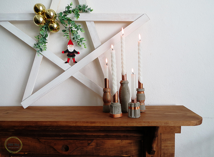 The easy way to make concrete candle holders