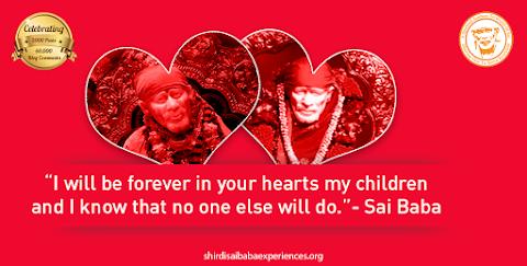 Hearts - Sai Baba In Heart Image