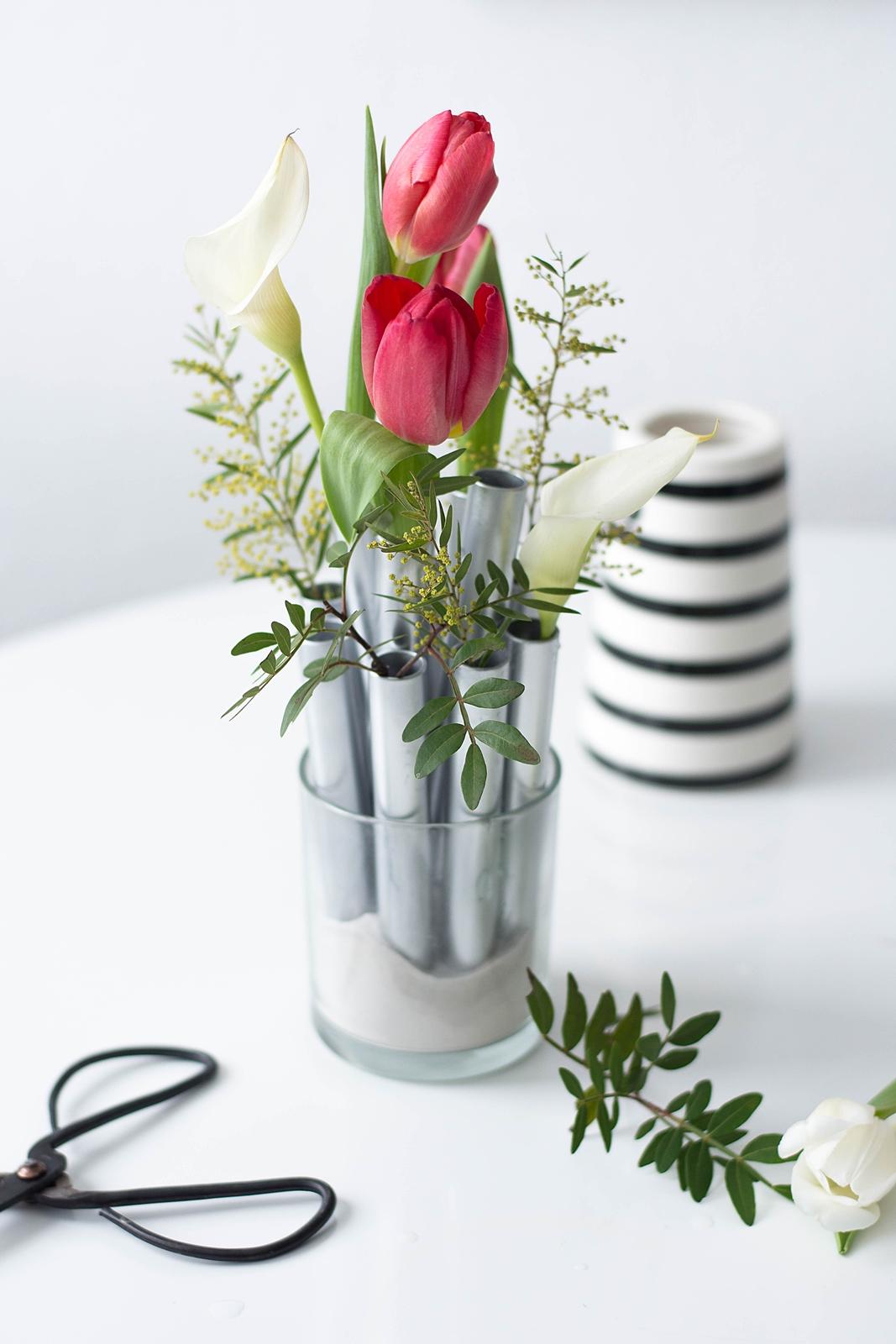 nachmachtipp silbernes vasen ensemble sinnenrausch. Black Bedroom Furniture Sets. Home Design Ideas