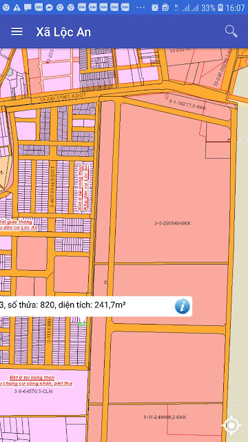 ĐẤT BÁN KDC D2D LỘC AN LONG THÀNH 8x30 m, ĐƯỜNG 17M