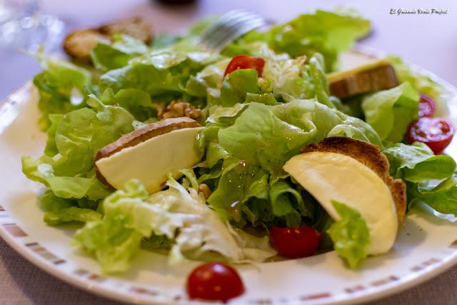 Restaurante Le Pradinas, ensalada, Anduze - Francia, por El Guisante Verde Project