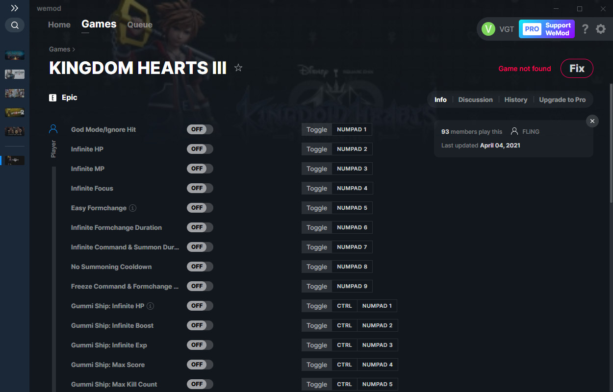 Kingdom Hearts 3: Trainer (+37) from 04.04.2021 [WeMod]